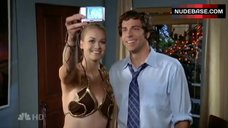 Yvonne Strahovski Hot in Princess Leia Costume – Chuck