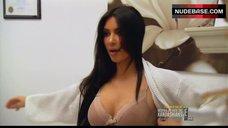 Kim Kardashian West Underwear Scene – Keeping Up With The Kardashians