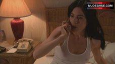 2. Jaime Murray Nipples Through Top – Dexter