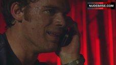 4. Jaime Murray Nipples Through Top – Dexter