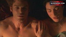 9. Jaime Murray Topless in Thong – Dexter