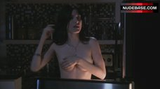 6. Jaime Murray Boobs Scene in Kitchen – Dexter