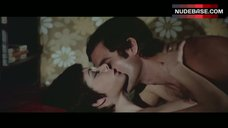 2. Edwige Fenech Lying Nude on Bed – Strip Nude For Your Killer