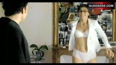 Julie Gayet in White Lingerie – Clara Et Moi