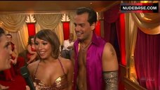 5. Cheryl Burke Breasts in Gold Bra  – Dancing With The Stars