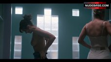 Alison Brie Nude in Locker Room  – Glow