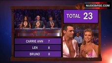 8. Audrina Patridge Cleavage in Bra – Dancing With The Stars