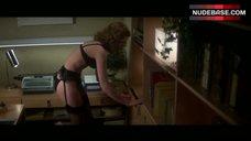 1. Nancy Allen in Sexy Black Lingerie – Dressed To Kill