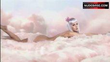 10. Katy Perry Lying Nude on Cloud – California Gurls