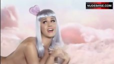 7. Katy Perry Lying Nude on Cloud – California Gurls