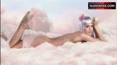 9. Katy Perry Lying Nude on Cloud – California Gurls