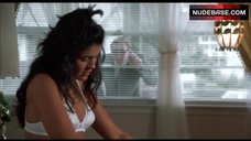 Maria Conchita Alonso in White Bra – Vampire'S Kiss