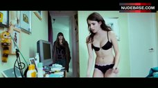 Emma Roberts Sexy in Black Bra and Panties – 4.3.2.1