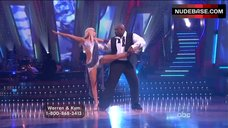 Kym Johnson Upskirt on Stage – Dancing With The Stars