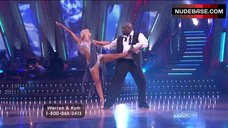 3. Kym Johnson Upskirt on Stage – Dancing With The Stars