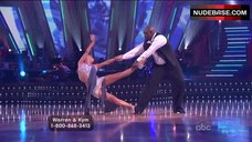 5. Kym Johnson Upskirt on Stage – Dancing With The Stars