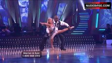9. Kym Johnson Upskirt on Stage – Dancing With The Stars