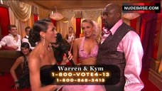 7. Kym Johnson Hot in Pink Bra – Dancing With The Stars