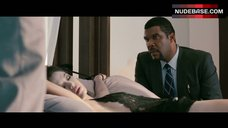 Stephanie Jacobsen Lying on Bed in Black Bodysuit – Alex Cross
