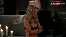 Kelly Stables in Black Sexy Lingerie – Two And A Half Men