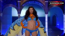 Adriana Lima in Blue Bra and Panties – The Victoria'S Secret Fashion Show 2011