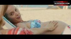 Pregnant Zoe Kazan in Bikini – What If