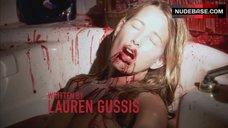 1. Suzanne Lanza Nude Scene in Bathtub – Dexter