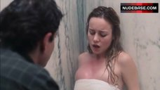 7. Brie Larson Hot Scene in Shower – Tanner Hall