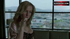 3. Gillian Anderson in Sexy Black Bra – The Fall
