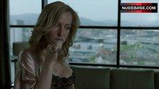 4. Gillian Anderson in Sexy Black Bra – The Fall