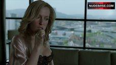 5. Gillian Anderson in Sexy Black Bra – The Fall