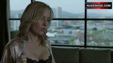 6. Gillian Anderson in Sexy Black Bra – The Fall
