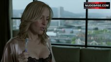 Gillian Anderson in Sexy Black Bra – The Fall