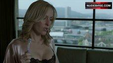 8. Gillian Anderson in Sexy Black Bra – The Fall