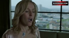 9. Gillian Anderson in Sexy Black Bra – The Fall