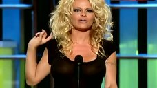 Pamela Anderson Nipples Through Dress – Comedy Central Roast Of Pam Anderson