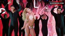 8. Lady Gaga in Thong Bikini – Mtv Video Music Awards