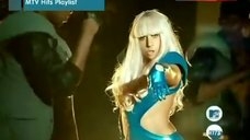 Lady Gaga Sexy in Blue Bodysuit – Poker Face