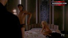 6. Lady Gaga Flashes Boobs – American Horror Story