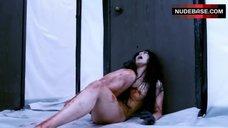 Asami Shows Nude Bloodied Body – Gun Woman