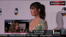 Olivia Munn Side Boob – E! Live From The Red Carpet