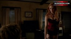 4. Deborah Ann Woll Sexy in Сorset and Stockings – True Blood