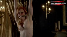 3. Deborah Ann Woll Bound in Lingerie – True Blood