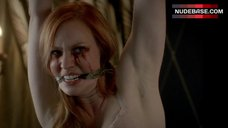 4. Deborah Ann Woll Bound in Lingerie – True Blood