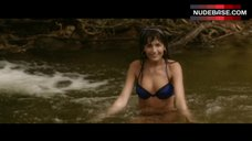Camilla Belle Swim in River in Lingerie – Sundown