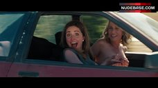 Kristen Wiig Covers Nude Tits in Car – Bridesmaids