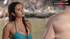 Nina Dobrev Bikini Scene – The Vampire Diaries