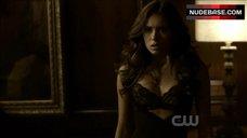 Nina Dobrev Lingerie Scene – The Vampire Diaries