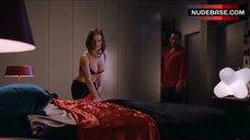 4. Madeleine West Hot in Black Bra – Satisfaction
