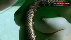 9. Aya Sugimoto Topless – Flower And Snake